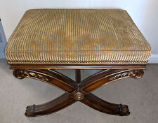 Ethan Allen Alexis X-Base Bench Empire Regency Style