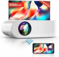 Wireless WiFi Full HD 5500 Lumens 1080P Home Theater Movie Video LED Projector