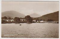 Dunbartonshire postcard - Luss from Steamer, Loch Lomond - RP