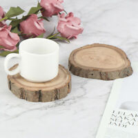 Wooden Tea Coasters Pads Kitchen Coffee Drinks Heat Insulation Cup Holder MatFR