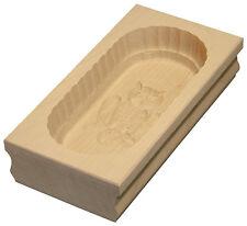 Butterform eckig Buttermodel aus Ahornholz für 250 g Butter Motiv: Eule