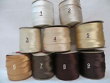 5 ;10 m  Schrägband Satin,Atlas  20 mm Farb Töne: Ivory, Beige,Gold, Braun (2)