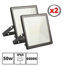 2 Focos Led Exterior Impermeable 50 W, 6000K Luz Fria Impermeable IP65.
