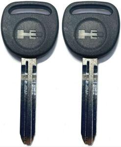2 Pack - OEM Uncut Key B110 blade For GM Hummer H3 2006-2010 With H3 Logo