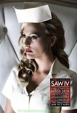 SAW 4  MOVIE POSTER Rare BLOOD DRIVE Version B 2007 Horror Film TOBIN BELL