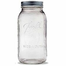 Ball Mason Jar 1 Set 64 Oz With Lid 2 Quart Clear Glass Vintage Perfect Canning