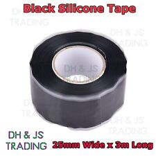 Black Silicone Tape Self Fusing Plumbers Electritions Pipe Repair Hose Leak Fix