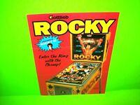 Gottlieb ROCKY 1982 Original Pinball Machine Flyer Sylvester Stallone Rocky III