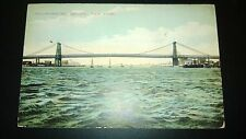 "Antique  ""WILLIAMSBURG BRIDGE - NEW YORK"" NYC Postcard. Posted 1911"
