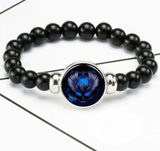 Noosa Snap Chunk Elastic Beads Bracelet Harry Potter Ravenclaw Eagle Photo Glass
