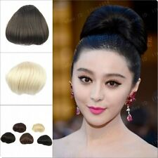 Women's Hair Bun Cover Hairpiece Straight Chignon Clip in Extensions Scrunchies