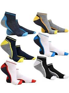 Mens Trainer Socks Sports Ankle Liner Invisible Low Cut Cotton Socks Size 6-11