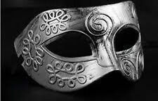 Men's Masquerade Silver Swirl Mask Fancy Dress Venetian Eye Masked Stag Party