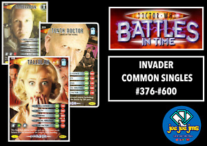 Dr Doctor Who Battles in Time Cards - INVADER Common Singles - RESTOCKED