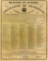 CIVIL WAR 1861 COPY Ordinance of Secession Republic of Georgia