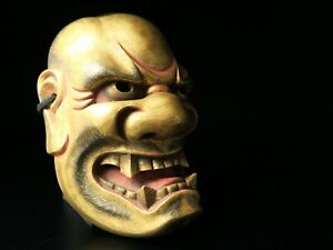 Free shipping Noh mask SHISHIGUCHI Bugaku Gigaku Kyougen Japanese