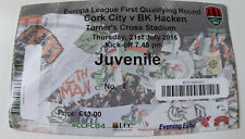 Ticket for collectors EL Cork City - BK Hacken 2016 Ireland Sweden