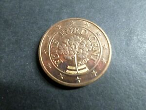 AUTRICHE pièce de 5 centimes d euro 2002, TB