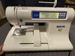 WHITE EMBROIDERY MACHINE - WHITE W3300 W/ POWER CORD