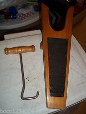 VINTAGE WOOD BOOT JACK SHOE STAND + WOOD HANDLE LACE PULLER SPORTSMAN 5115 L@@K*