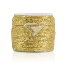 "50 Yards 1/8""3mm Gold Sheer Organza Ribbon Craft Hair Bows Wedding Décor SF"