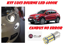 COPPIA LUCI DIURNE DRL 15 LED P21W BA15S CANBUS FIAT 500X 6000K SUPER WHITE