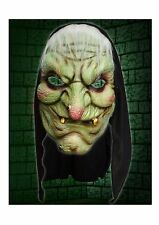 Evil Old Witch Hooded Face Mask Halloween Horror Latex Fancy Dress