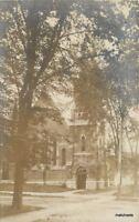 Baptist Church C-1910 CALAIS MAINE RPPC Real Photo postcard 1417