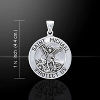 Saint Michael .925 Sterling Silver Pendant by Peter Stone