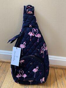 Vera Bradley Mini Sling Backpack Belt Bag Flirty Flamingos🦩Heart Valentines NWT