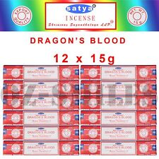 Nag Champa SATYA SAI BABA - Dragon's Blood INCENSE STICKS - Bulk Pack - 12 x 15g