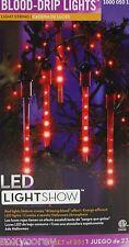 Halloween Gemmy Blood Drip LED Lights 1 String of 23 lights String length 10 ft