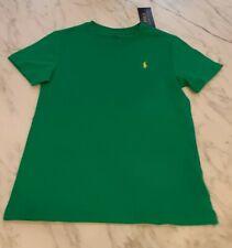 NWT, Polo Ralph Lauren Green T Shirt w/ Yellow Pony Youth Boys Size 6