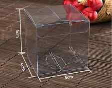 50pcs Wedding Favour Sweet Cake Gift Candy Boxes Transparent PVC Cube Gift Bags