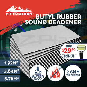 5.76 m²  Car Butyl Rubber Sound Deadener Sound Proofing Self Adhesive Mat