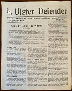 The Ulster Defender Newsletter Ulster Protestant UDA UVF IRA UFF Derry 1973