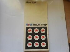 ancienne carte routière usa New York Mobil road map