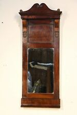 Antique rare moustache top Empire mirror original mirror glass Biedermeier 1820s