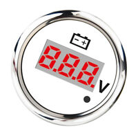 Digital Voltmeter Voltage Display Meter Gauge Boat Marine 8-32V 52mm White