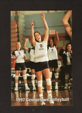 Georgetown Hoyas--1997 Volleyball Pocket Schedule