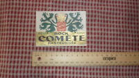 1950s FRENCH BEER LABEL, BRASSERIE LA COMETE CHALONS SUR MARNE FRANCE, BOCK