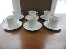 6 - DANSK TAPESTRIES BROCADE GOLD COFFEE CUP & SAUCER SETS