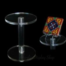 """Acrylic Dumbbell Pedestal Figurine Display Stand 4"""""""