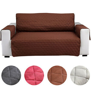 Reversible Quilted Sofa Cover Furniture Couch Protect From Pets Dogs Washable^