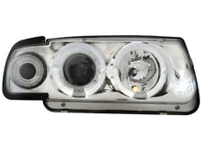 2 PHARE ANGEL EYES VW VOLKSWAGEN POLO 6N 10/1994 à 08/1999 FEUX AVANT CHROME LED