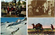 TRANSPORT AVEC ANIMAUX. 34 CPA Vintage Postcards pre-1960