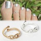 Symbol Metal Foot Simple Retro Infinity Design Adjustable Toe Ring Foot Jewelry