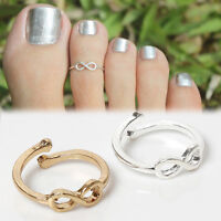 Beauty Infinite Ring Infinity Design Adjustable Toe Ring Foot Jewelry