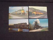 4 train & locomotive postcards Norfolk & Western 1218 Louisville and Nashville