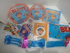 Blippi Birthday Party Decoration Supplies for 10 New Sealed Plates Banner & More